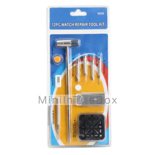 12pcs Watch Repair Tool Kit with Small Pin Remover