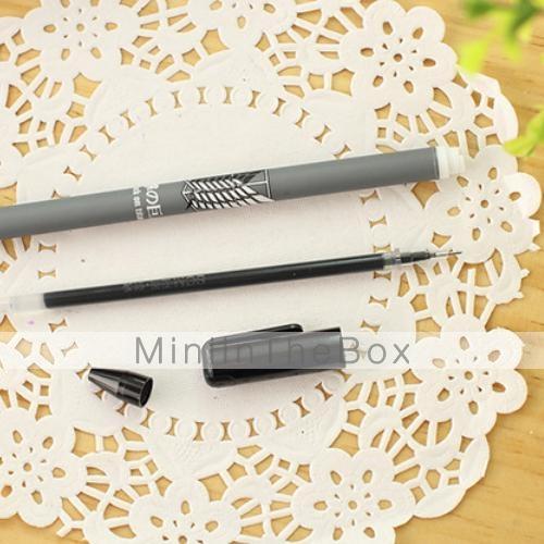 ataque a caneta gel tinta preta titan cor aleatória de