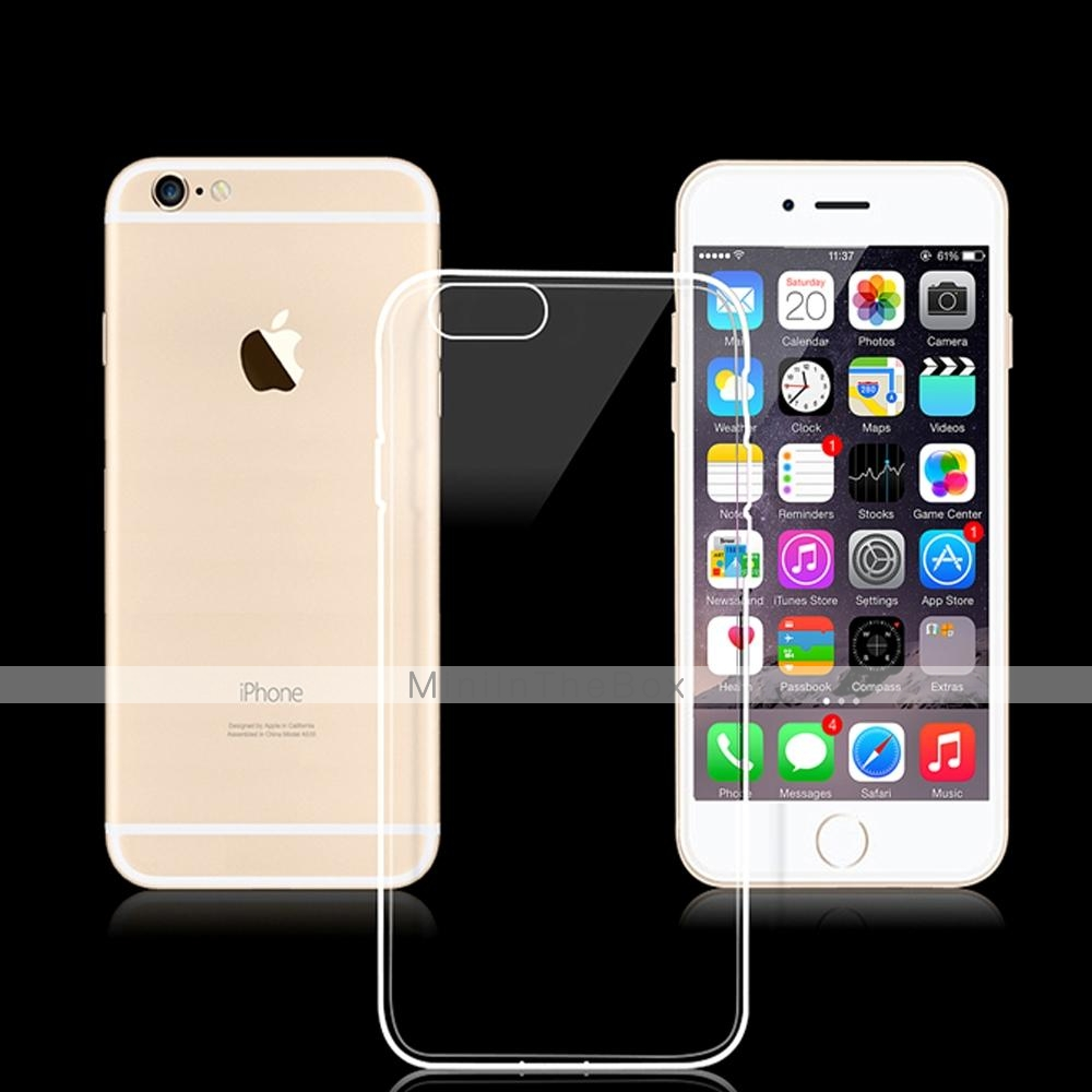 iphone 6 plus r ckseiten cover transparent schwarz. Black Bedroom Furniture Sets. Home Design Ideas