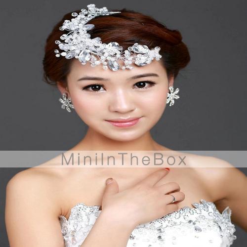 fleurs cha ne pour cheveux casque mariage alliage imitation de perle femme mariage de 2943496. Black Bedroom Furniture Sets. Home Design Ideas