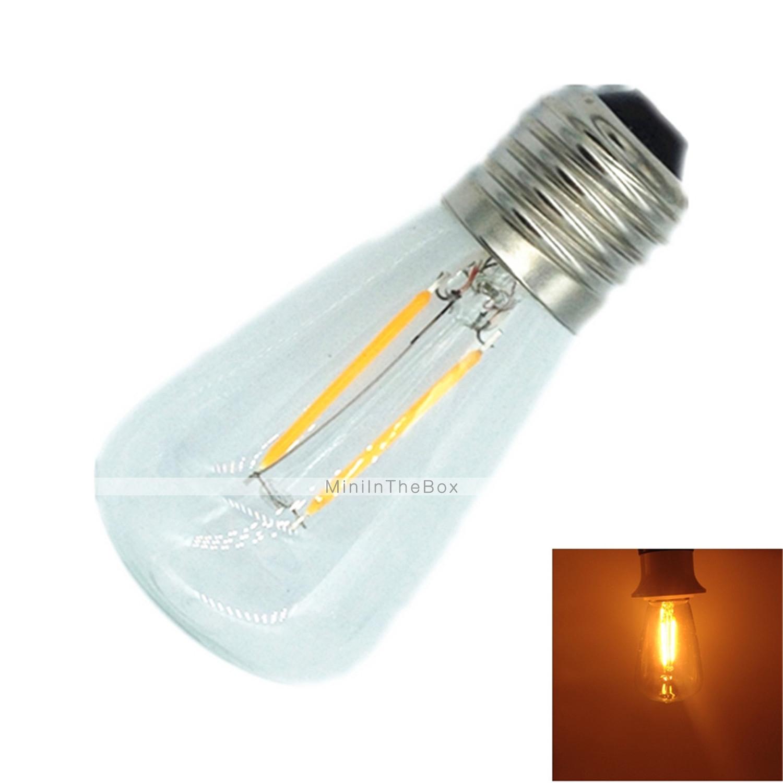 Lampade LED a incandescenza 2 E26/E27 2 W 180 LM Bianco caldo 1 pezzo AC 220-240 V del 3320859 ...