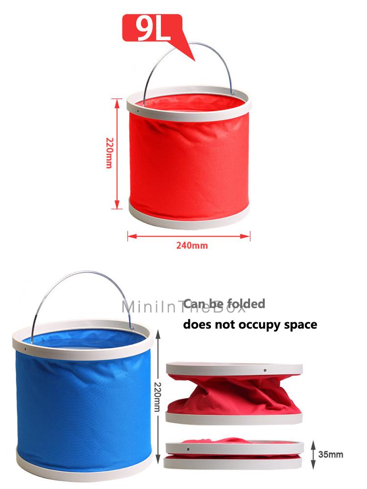 Rundong kofferbak collectie multi functionele 9l schaalbare vissen emmer kleur selectie - Kleur selectie ...