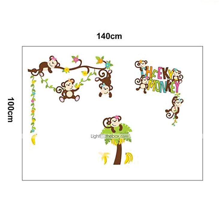 Adesivi da parete - di Plastica - Verde/Marrone - Cartoni animati del 3045327...