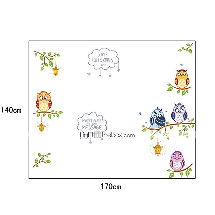 Adesivi da parete - di Plastica - Verde/Marrone - Cartoni animati del 3675757...