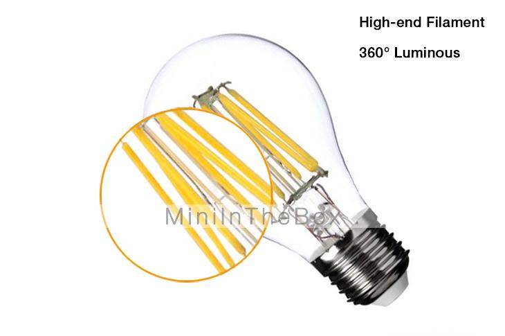 5w E26 E27 Led Filament Bulbs G60 4 Cob 400 Lm Warm White