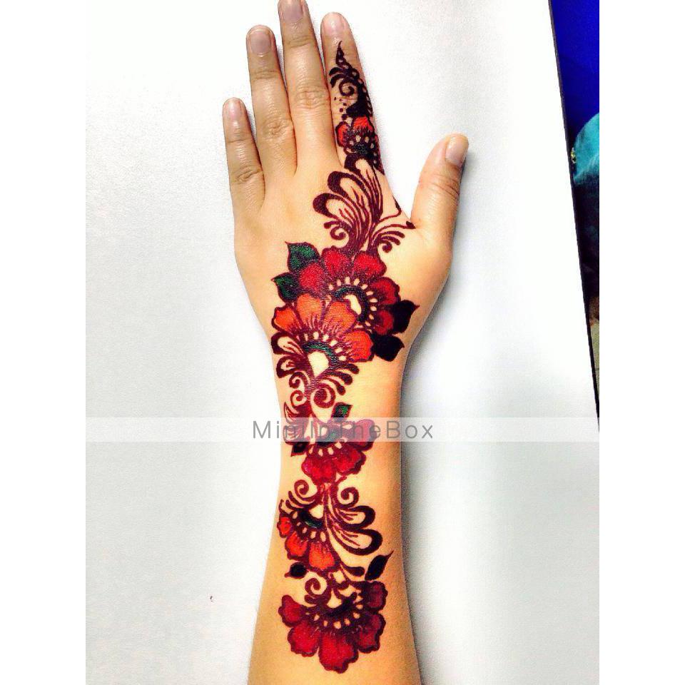 Halloween colored golecha henna cone paste tattoo for Henna tattoo kits target