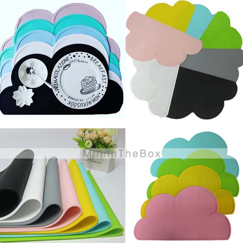 FDA silikoni tabletti baari matto vauva lapset pilvi muotoinen levy matto pöy