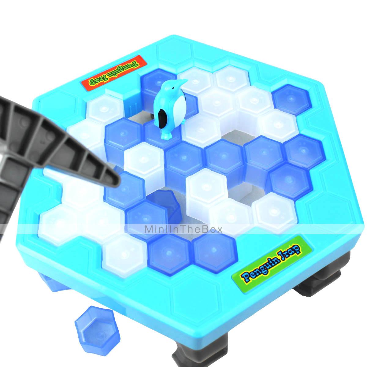 Break the ice puzzle desktop game penguin knock ice for Ice block construction