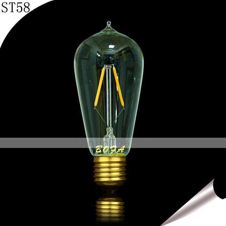 Garage Lighting Fluorescent Vs Led: E26 E27 B22 110V 220V ST58 2200K-3500K 100-200lm 2W 2LED