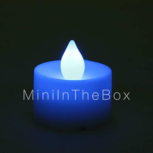 mini bougie en forme de la lumi re bleue la nuit a men de. Black Bedroom Furniture Sets. Home Design Ideas