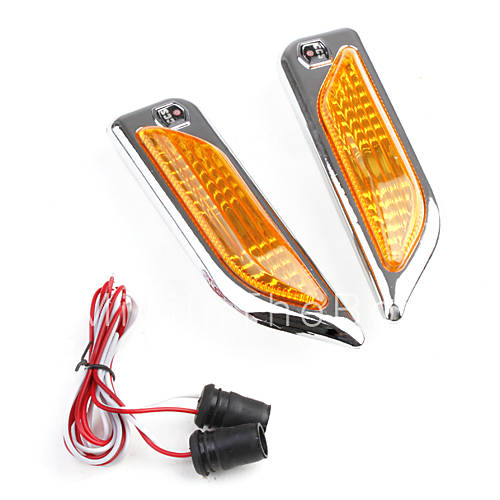 universal yellow led side marker lights for car dc 12v. Black Bedroom Furniture Sets. Home Design Ideas