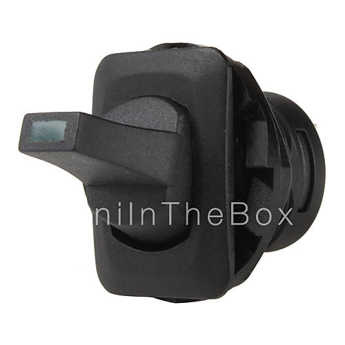 st0403 interrupteur bascule voiture v hicule avec voyant lumineux vert noir 12v 10a de. Black Bedroom Furniture Sets. Home Design Ideas