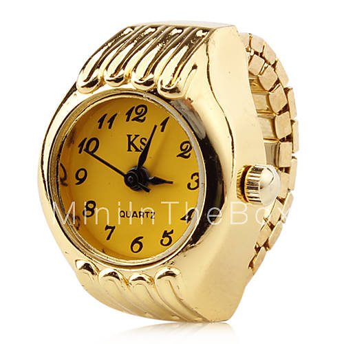 women s alloy analog quartz ring watches gold cool