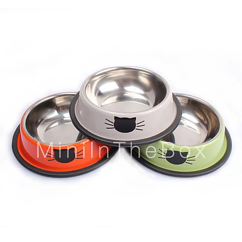 Ciotola in acciaio inox per i piccoli cani gatti (15x15x3 ...