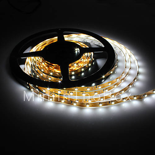 5m 5W 300x3528 smd hvitt lys Fleksibel LED strip lampe (dc 12v) 392891 ...