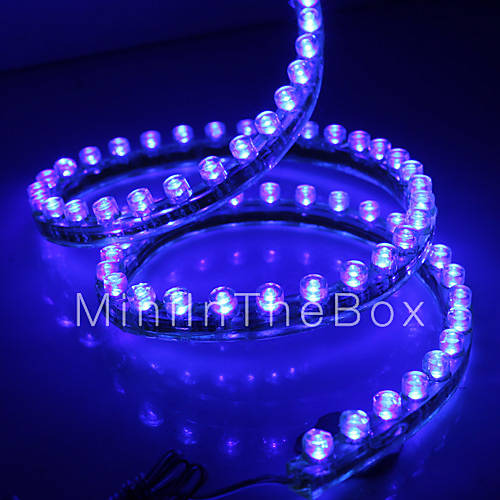 Vanntett 120cm 120-LED Bl? LED stripe lys for bil (12V) 476093 2016 ...