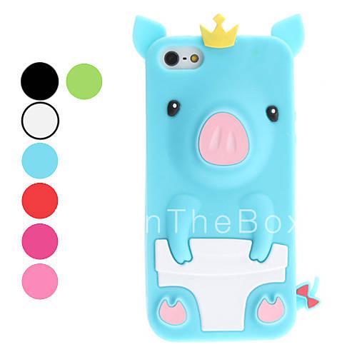 3d design cute pig pattern soft case for iphone 5 5s. Black Bedroom Furniture Sets. Home Design Ideas
