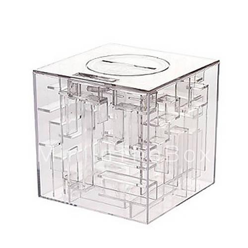 Money maze coin box puzzle game prize saving bank 519454 for Maze coin bank
