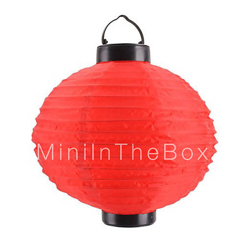 Zonne energie chinese lantaarn stijl rood licht led lamp 519799 2017 - Kleine zonne lamp ...