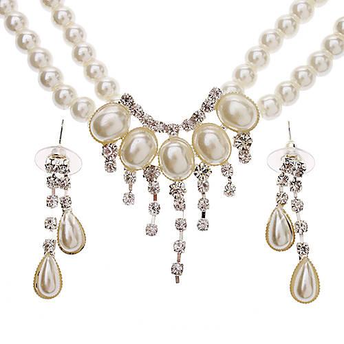 The Semi-Circular Arc Pearl Earrings + Necklace Jewelry ...