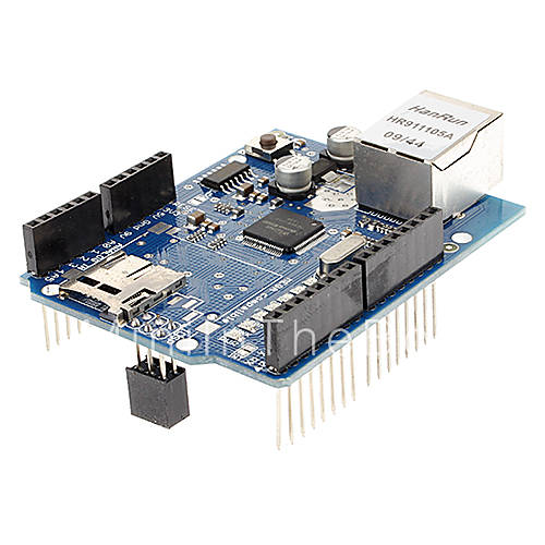 Ethernet w shield board for arduino support micro sd
