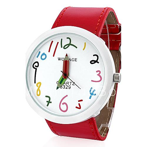 Women 39 s pu analog quartz wrist watch red cool watches unique watches 646980 2017 for Cartoon watches