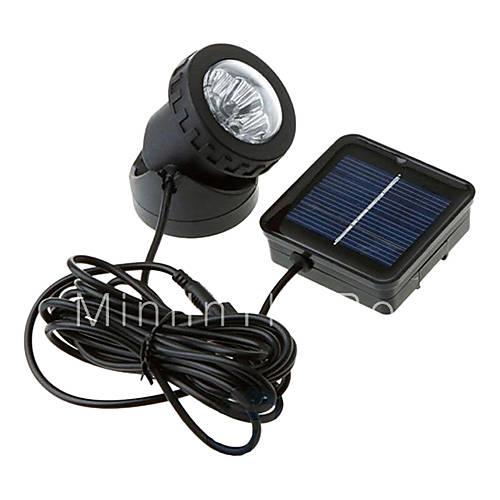 6 LED Waterproof White Light Solar Powered Spotlight