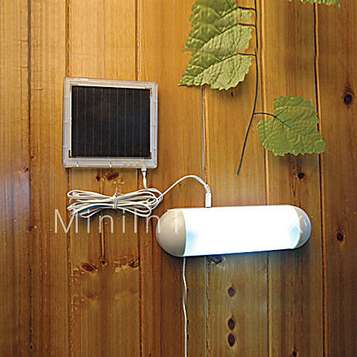 5 led indoor outdoor white light led solar powered panel. Black Bedroom Furniture Sets. Home Design Ideas