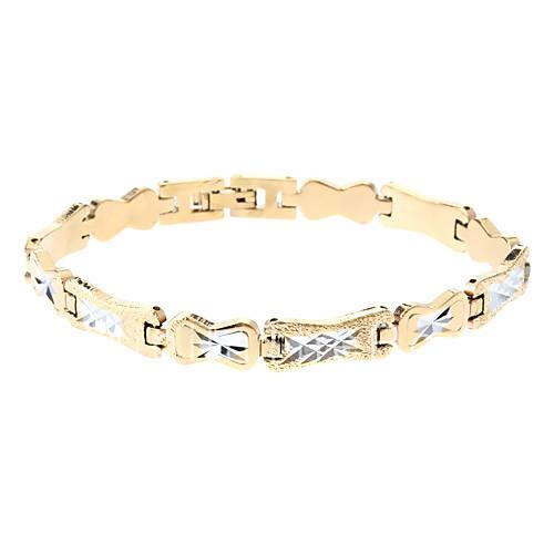 Мужская Золотой браслет серебряный Двухместный матирования Цвет 105 распродажа со скидкой, покупайте дещевле Мужская