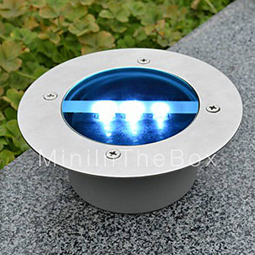 solar power round recessed deck dock pathway garden led light 840209 2017. Black Bedroom Furniture Sets. Home Design Ideas