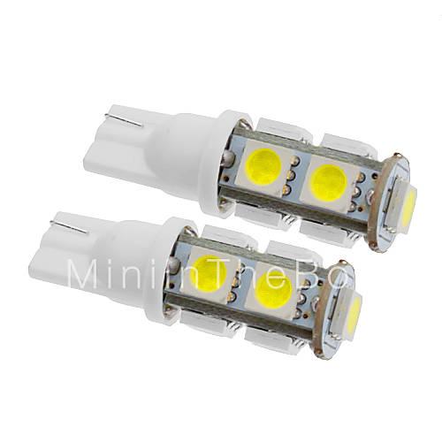 Lampadina LED per auto, luce fredda, T10 5W 9x5060SMD 350LM 5500-6500K ...
