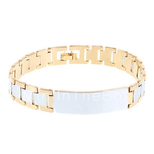 Мисс rosehigh качество мужской меди золотой браслет. Половина цилиндра браслет кожа форму