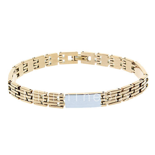 Купить Мужская высококачественных Медная Золотой браслет за 183 руб. от MINIINTHEBOX