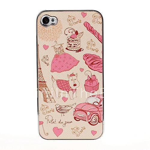 ... Paris Pattern Pasting Skin Case for iPhone 4/4S 1007383 2017 – $4.99