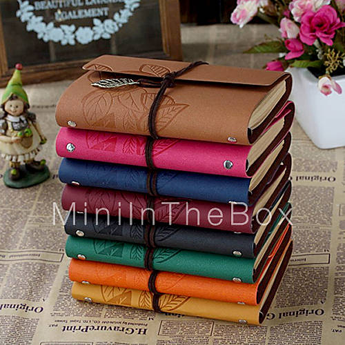 Creative Notebook Cover : Business leaf hard cover creative notebooks more colors