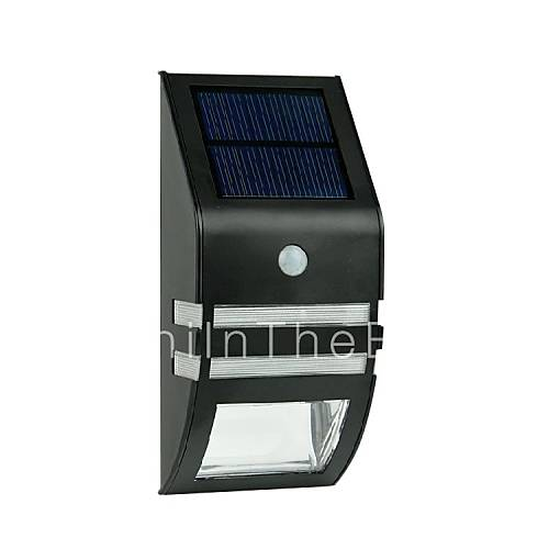 2-LED Warm White Stainless Steel Solar Wall Light With PIR Motion Sensor 1605509 2017 USD 29.99