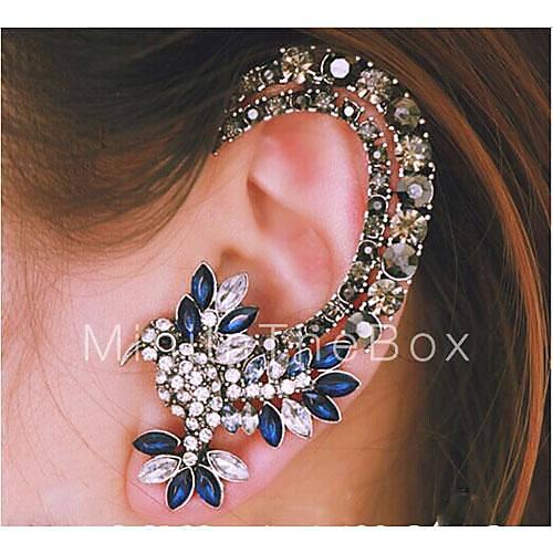 ear cuffs rhinestone alloy silver jewelry wedding party