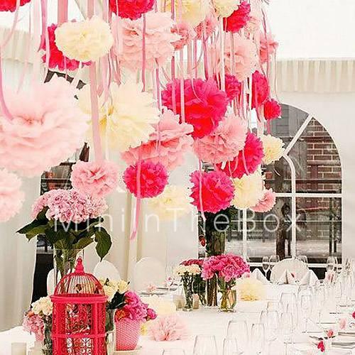 1PCS 5 Tissue Paper Pom Poms DIY Kits Decorative Flower Balls For Holiday Baby Shower Birthday