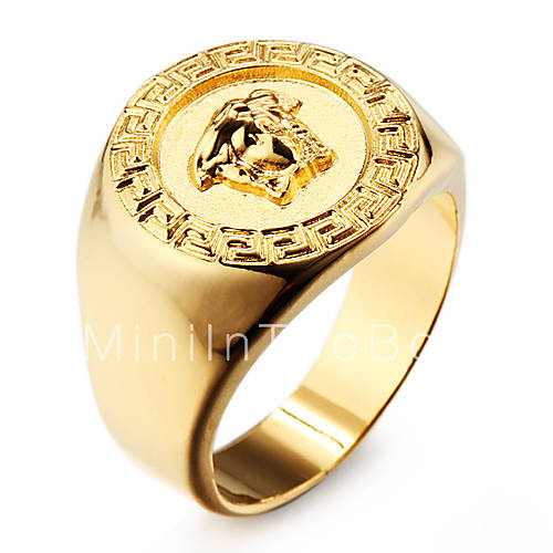 famous 18k gold plated stainless steel men s ring jewelry 1982755 2016. Black Bedroom Furniture Sets. Home Design Ideas