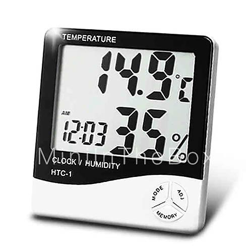 Medidor de umidade temperatura dom stico digital com o - Medidor de temperatura ...