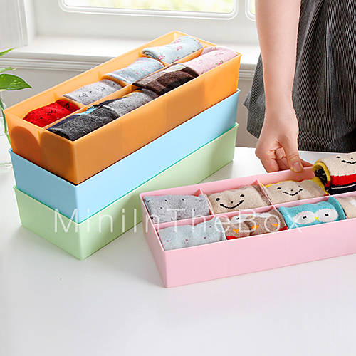Creative Large Size 8 Squares Bra Storage Boxes Socks And ...