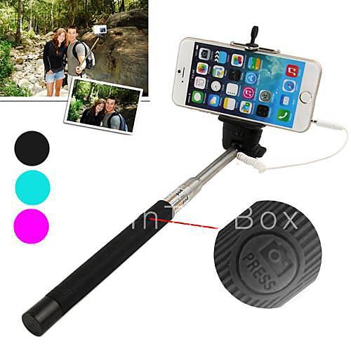 df kabel take pole uttrekk selfie h ndholdt monopod stick holder for iphone 5 5s 6 flere. Black Bedroom Furniture Sets. Home Design Ideas