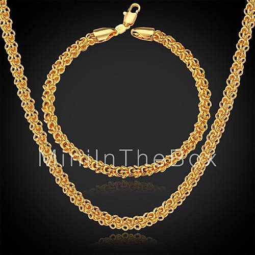 u7 classic 18k real gold plated chunky necklace chains