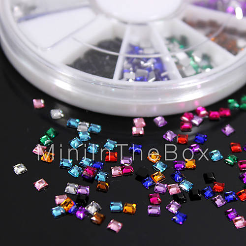 600pcs colorful square flatback acrylic gems handmade diy for Plastic gems for crafts