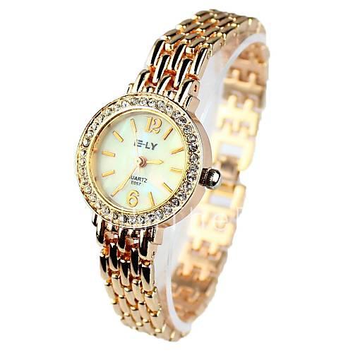 женщин часы браслет часы с стразами круглом корпусе. женская мило пчела рука цветок инкрустированные час