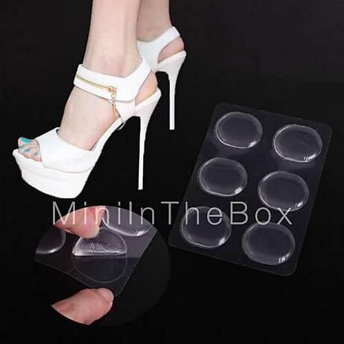 6pcs transparent non slip silicone material high heel