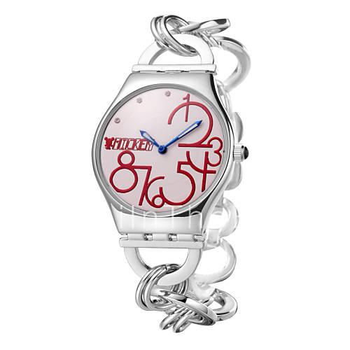 Populaire groot aantal scherm ronde roestvrij stalen kast kant ketting hete verkoop horloges dc - Roestvrijstalen kast ...