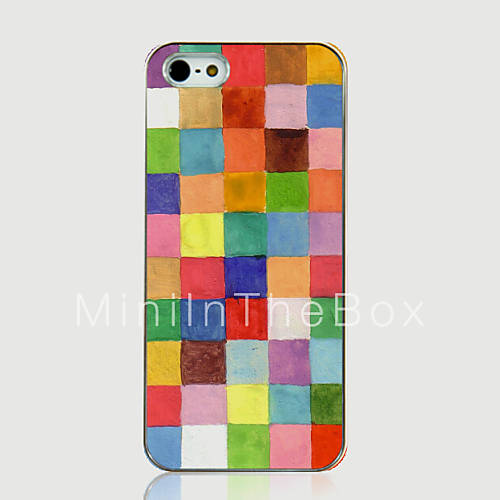 Eur € 2.99 - farve gitter mønster tilbage tilfældet for iphone5