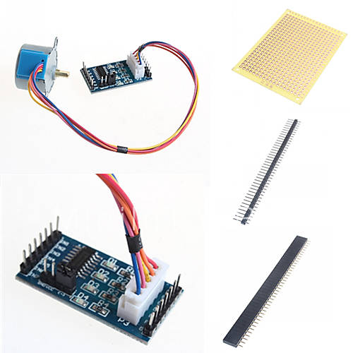 Uln stepper motor and accessories for arduino