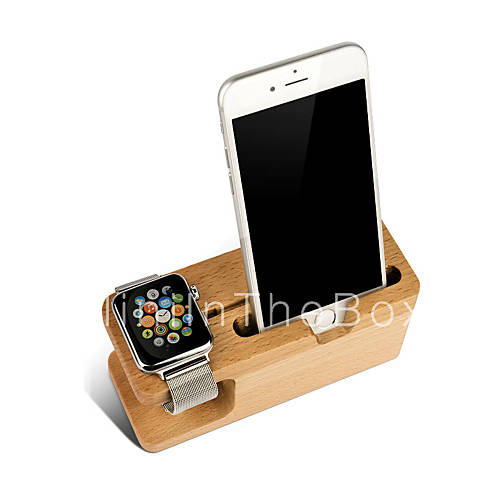 apple watch stand wood charging dock station watch display stand for apple watch 38mm 42mm. Black Bedroom Furniture Sets. Home Design Ideas